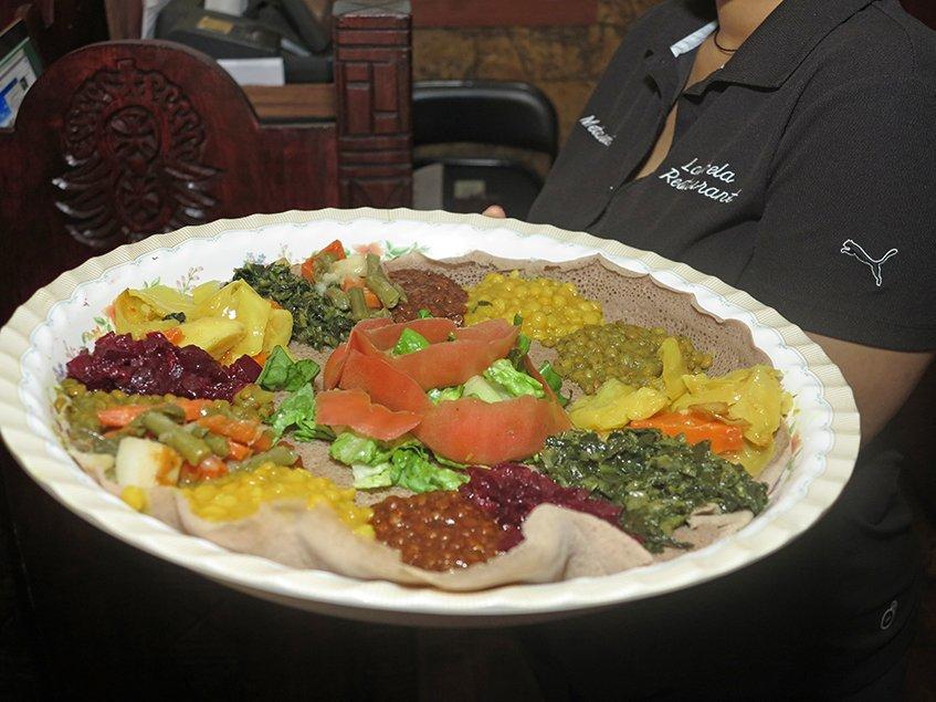 Vegetarian Platter for Two - Lalibela Ethiopian Restaurant