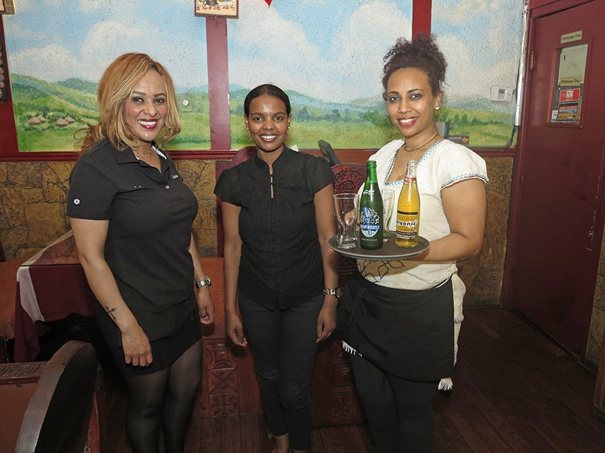 Beer Serving - Lalibela Ethiopian Restaurant