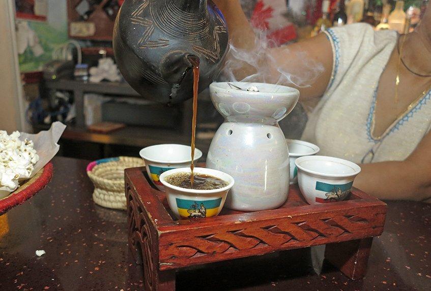 Coffee Prepared - Lalibela Ethiopian Restaurant